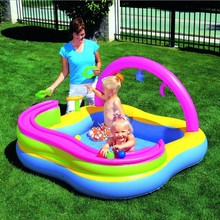 "52121 Bestway 51""x36""x35""/1.29mx91cmx89cm Train Play Center/inflatable pool with rollball/swimming paddling pool & shower balls"