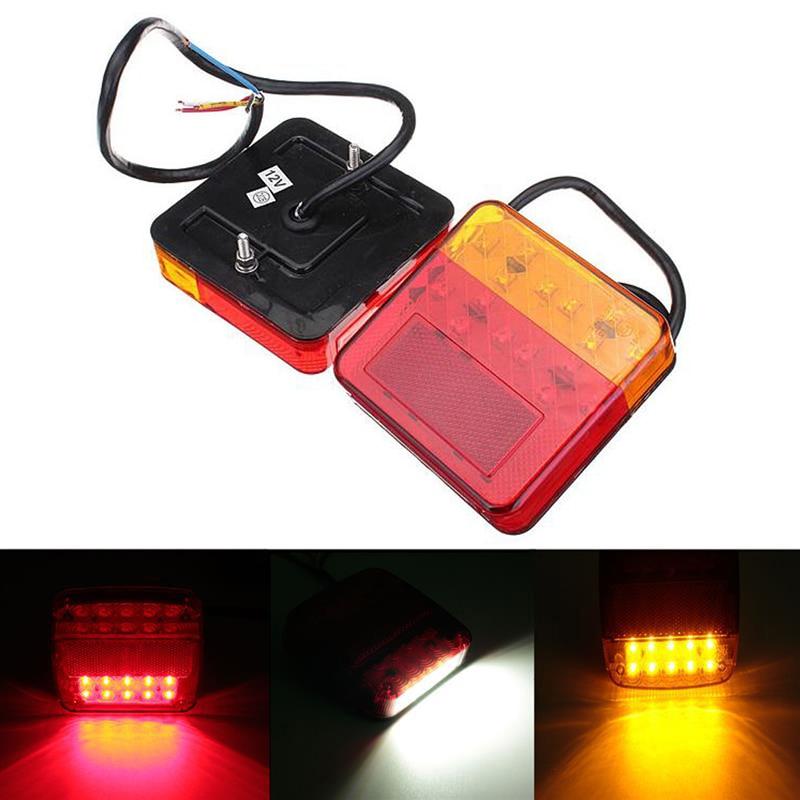 2 x Car 12V 16/20 LED Trailer Tail Light Left Right Taillight Truck Car Van Lamp<br><br>Aliexpress