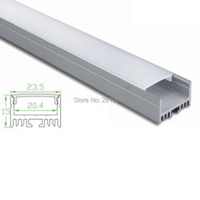 50 X 1M Sets/Lot factory supply aluminium profile for led strips and U channel alu for recessed wall or ceiling light(China)