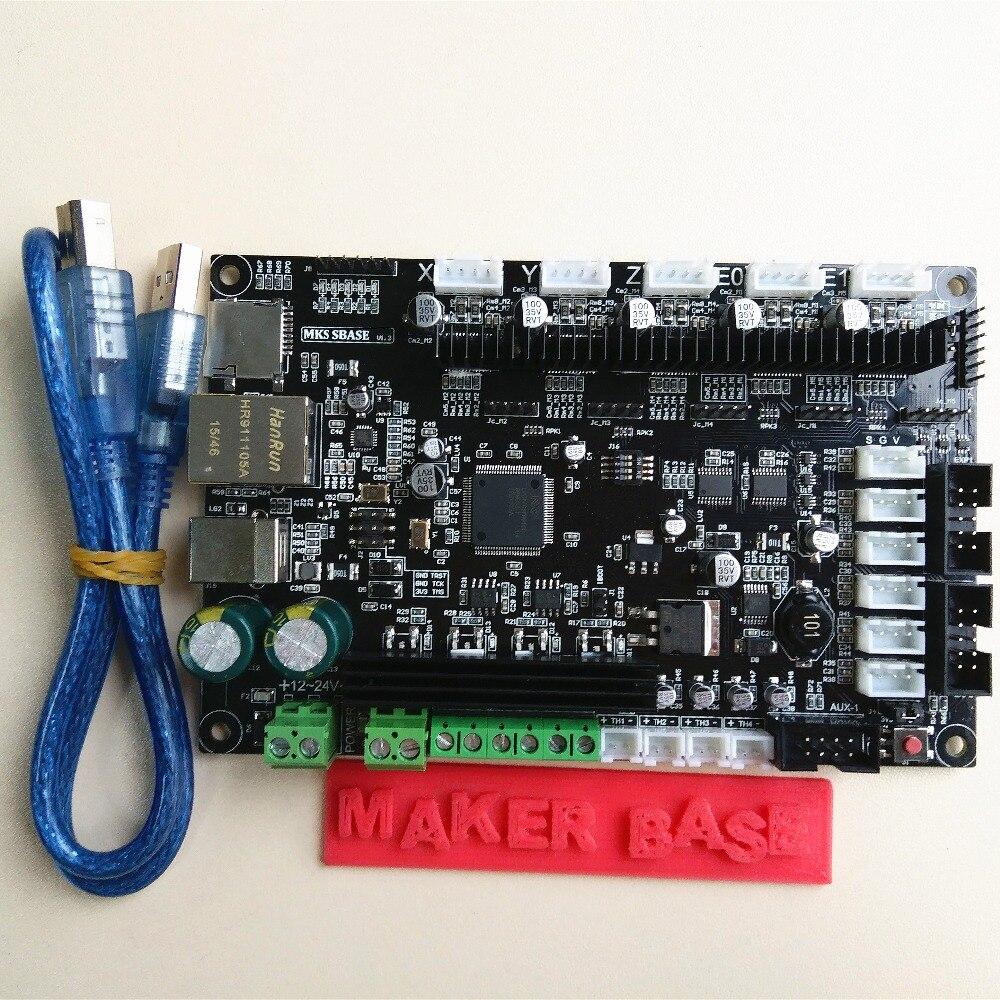 CE&amp;RoHS 32bit Arm platform Smooth control board MKS SBASE V1.3 open source MCU-LPC1768 support Ethernet preinstalled heatsink<br><br>Aliexpress