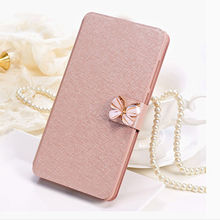 Flip Cover For Apple iPod Touch 4 Case Original Glitter Flower & Butterfly PU Leather Protector For Touch 4 Pouch