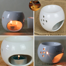 New Style Good Quanlity White Porcelain Incense Burner Candles And Essential Oil Burner Home Furnishing Decoration Air Clean(China)