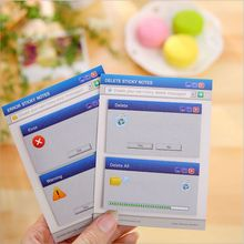 2Pcs/Pack  Windows System Notice Prompted Mini Memo Pad Sticky Notes Message Note Work Schedule Desktop Scratch Pad Memos Book
