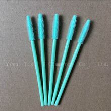 200Pcs Professional Makeup Disposable Eyelash Brush Mint Green Mascara Wands Applicator Spoolers Cosmetic Brushes Makeup Tools(China)