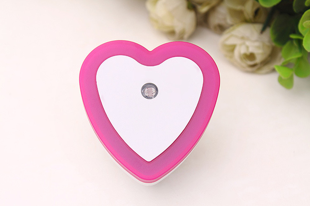 SuperNight Heart AC LED Night Light Intelligent Light Control Sensor Corridor Stairs Bedroom Bedside Toilet Home Decor Wall Lamp (12)