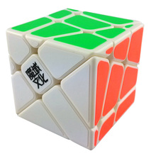 New YJ Moyu Crazy Fisher Cube 57mm Speed 3x3x3 Magic Cube Educational Twist Puzzle Toy(China)