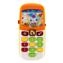Electronic Musical Toy Phone Mini Cute Kids Mobile Phone Fun Music Sound Cellphone Telephone Educational Toy(China)