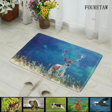 1 Piece FOURETAW Creative Animal Tiger Elephant Eagle Photo Living Room Bedroom Table Rug Anit-slip Home Rectangle Floor Carpet