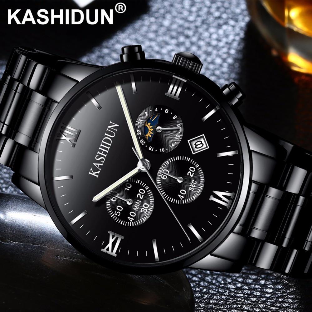 KASHIDUN Mens Watch Luxury Top Brand Fashion Business Simple Dress Quartz Watches Military Army Sport Waterproof Wristwatch <br>
