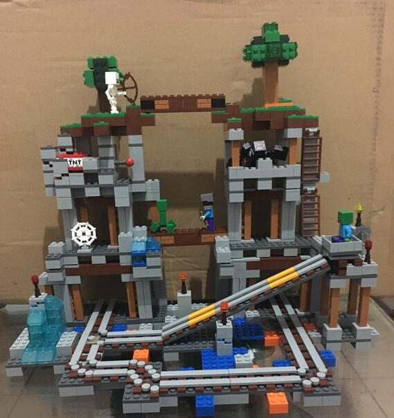 My Worlds Minecraft The Mine Model Building Blocks Toys Hobbies For Children 10179 Model Building Kits Compatible 21118<br>