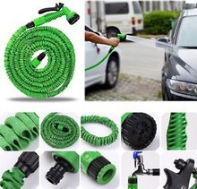 factory sales HOT 75FT Garden Hose Reels for Car Water pipe with spray Gun With EU or US connector & Blue,Green(China)