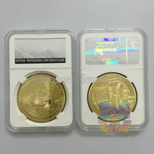 1PCS Free shipping BIT bItcoin coin Collectible BTC art Coin 24k gold plated round bullion