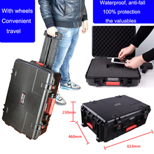 waterproof trolley case anti-fall tollbox Instrument case security equipment camera with pre-cut foamProtect your valuables(China)