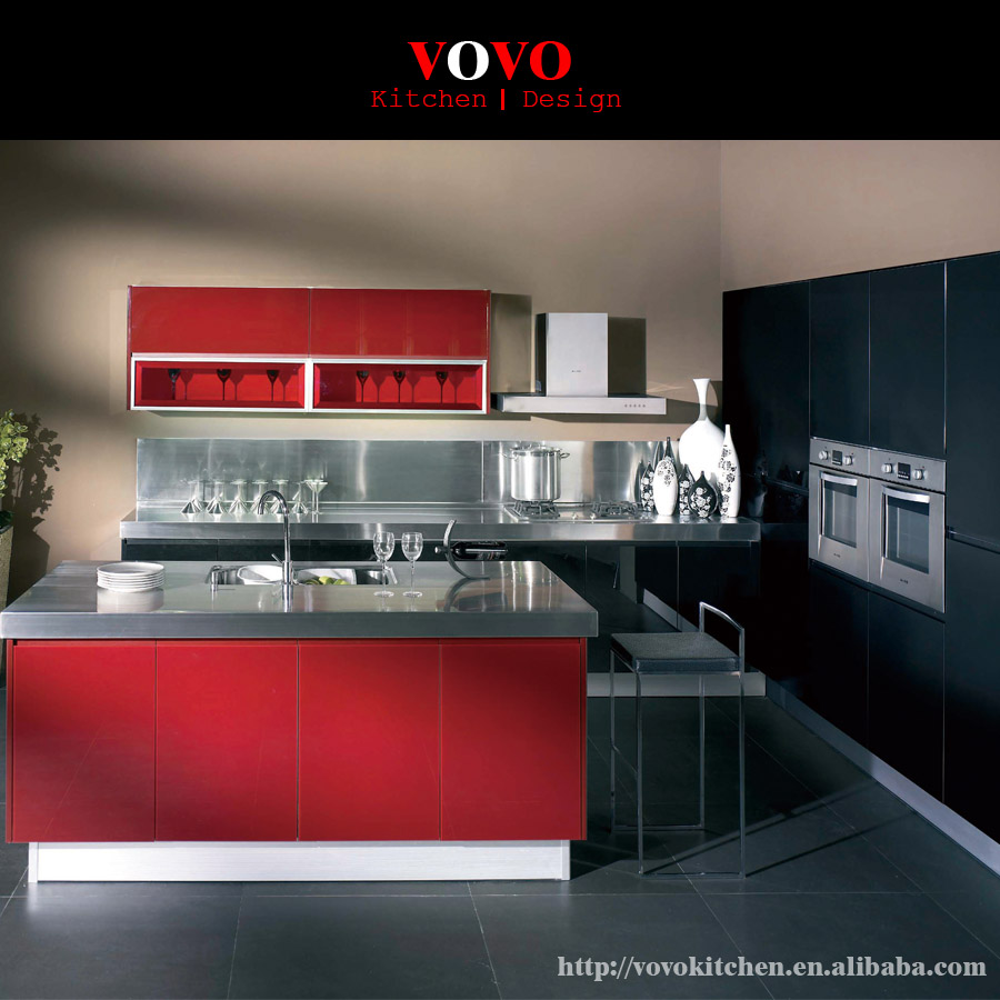 High gloss finished modern lacquer kitchen cabinet made in China(China (Mainland))