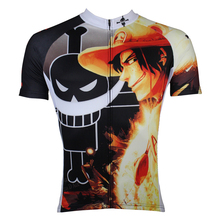 Men Cycling Jersey Anime One Piece Portgas D Ace Cycling Clothing Men Bike Short Sleeve Cycling Jersey X140