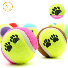 Pet Animal Chew Toy Tennis Balls small Dog Toys Run Fetch Throw Play pet Toy Ball Supplies Outdoor Cricket Free Shipping PE15(China)