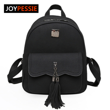 Joypessie Tassel Brands Winter women PU School bag Travel Leather Backpacks For Teenage Girls vintage feminine Women Backpacks