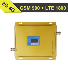 LCD Dispaly GSM 4G LTE 1800 Dual Band Signal Repeater GSM 900mhz 1800mhz 65dB Cellphone Signal Repeater GSM LTE Mobile Amplifier