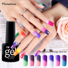 Verntion New Product Gel Nail Polish Temperature Change Nail Color UV soak off  Thermo Mood Color  gel Varnish