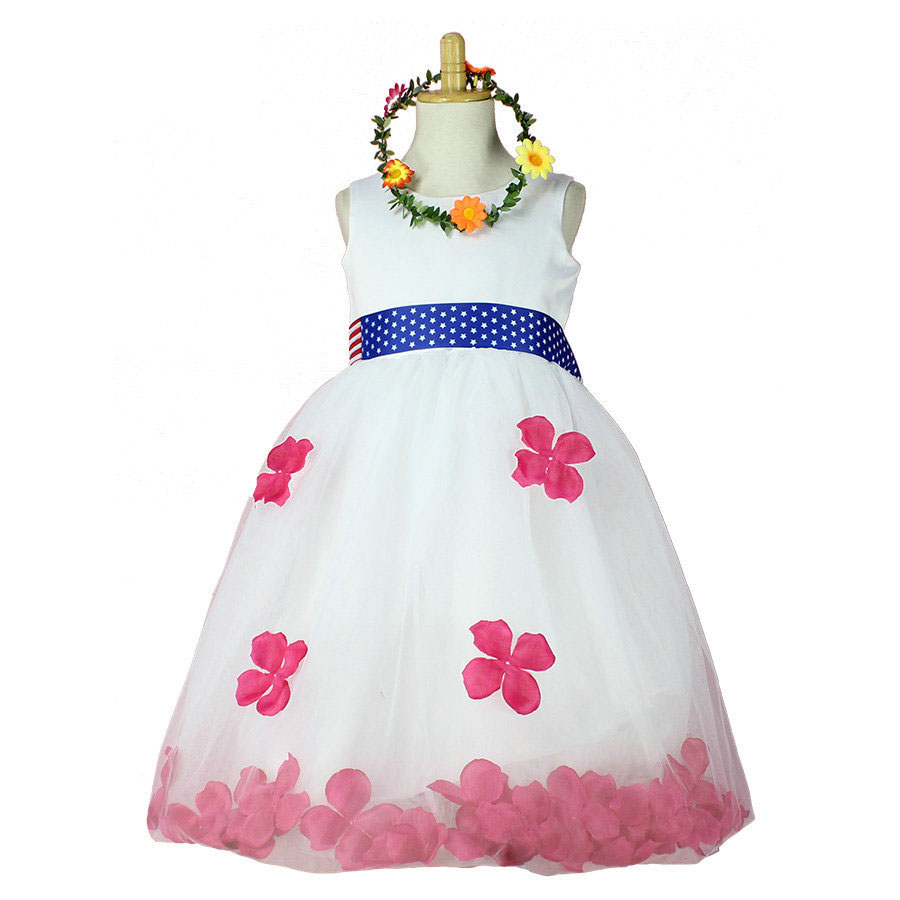 wholesale &amp;retail high quality baby girl dress with petals for party and wedding (without wreath)<br><br>Aliexpress