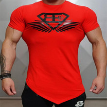 New Fashion Brand Trend Print Slim Fit Short Sleeve T Shirt Men Tee O-Neck Casual Fitness T-Shirt Gyms Bodybuilding Clothing