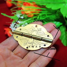 10Pcs 2014 Rushed Top Fasion 50 * 36mm 2 Inch Copper Hinge Printing Flat Oval Palette Gift(China)