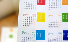 20 pcs/10 sets Calendar Sticker 2016 Diary Planner Notebook Journal Mini Supplement Index Tag Bookmark For SCRAPBOOKING CARDS