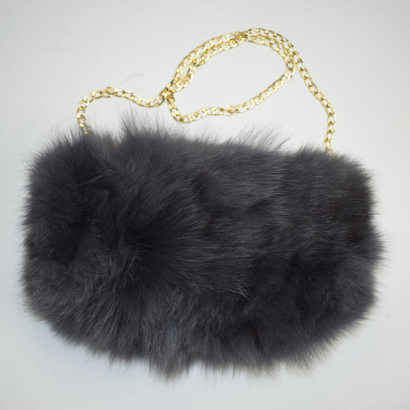 fox fur handmuff grey 12