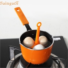 Saingace Kitchen Egg Cooker Silicone 3 Egg Holder Boiler Cooking Egg Boiler Poacher Dipper Boiler 1PC