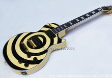New arrival Zakk Wylde Bullseye Les Electric Guitar with active EMG pickups,Custom shop LP guitar,Free shipping!