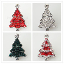 10pcs/lot Snap Charm Holiday Ginger Interchangeable Jewelry Ginger Snap Button Rhinestone Christmas Decoration DIY charms KB4366