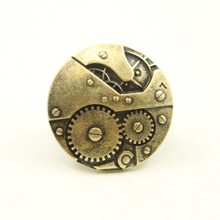 And the wind big gear  ring jewelry retro male female finger ring wholesale Korean people