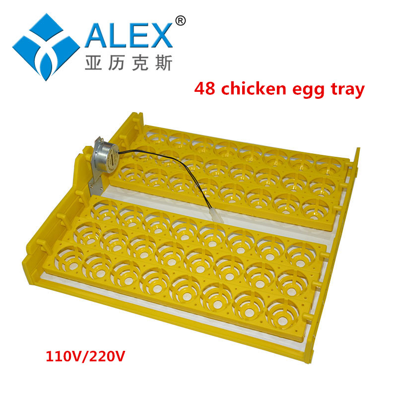 48Eggs 110V / 220V  Incubator Turn eggs tray Chicken Duck Goose Birds Compound Automatic incubator tray<br><br>Aliexpress