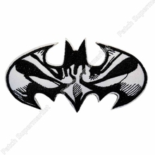 "4"" DC Comic Batman Mask Logo Uniform Logo Animated Movie TV Series Costume Embroidered Emblem applique iron on patch"