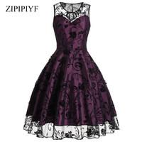 Zipipiyf-Spring-Autumn-Women-Vintage-Dress-Fashion-Solid-Color-Half-Sleeves-Elegant-V-Neck-Party-Vestidos.jpg_200x200