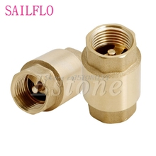 1/2'' NPT Brass Female Male Thread In-Line Spring Vertical Check Valve 200WOG #S018Y# High Quality