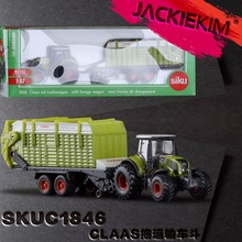 Siku 1:87 Scale Diecast Toy Car Model Claas Tractor and Trailer Educational for Kids Gift Collection Toys Free Shipping