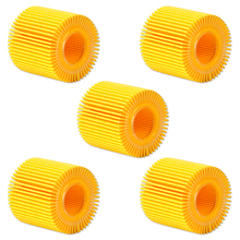 beler 5Pcs Oil Filter Engine Kit OEM 04152-YZZA6 CH10358 L16311 Fit for Toyota Corolla Prius Matrix Scion Lexus Scion Pontiac