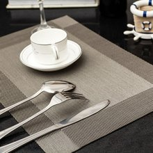 4 Pcs/lot Placemat PVC Dining Table Mat Disc Pads Bowl Pad Coasters Waterproof Table Slip-Resistant Pad Hot Sale