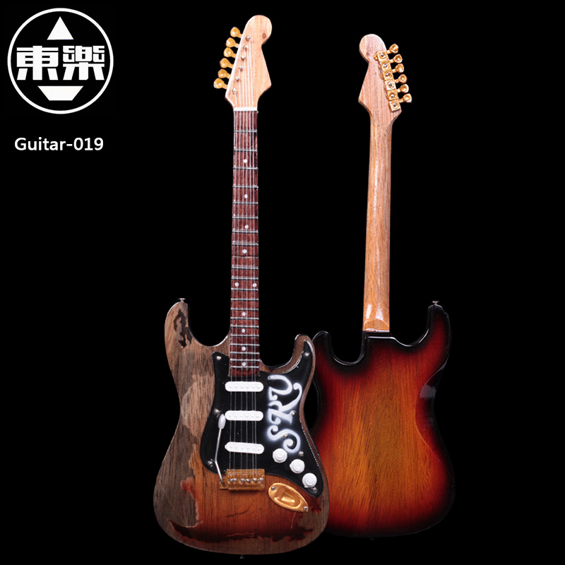 Wooden Handcrafted Miniature Guitar Model guitar-019 Guitar Display with Case and Stand (Not Actual Guitar! for Display Only!)<br>