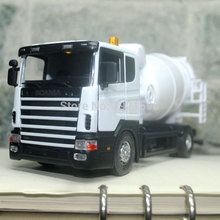 3pcs/pack Wholesale Brand New JOYCITY 1/43 Scale Truck Model Toys Sweden Scania Cement Mixer Diecast Metal Car Toy New In Box