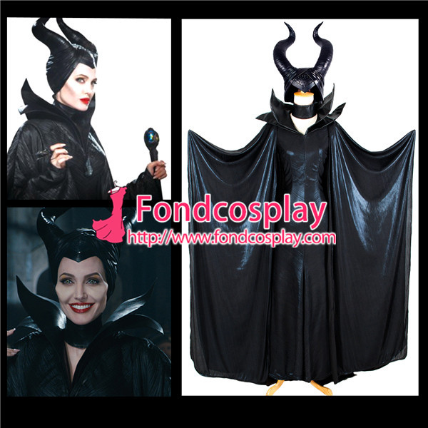 Maleficent Angelina witch Sleeping cosplay Helmet Halloween Hat Free Size
