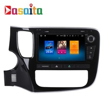 Car 2 din android GPS Navi for Mitsubishi Outlander 2014 2015 2016 auto-radio navigation multimedia 4Gb+32Gb PX5 8-Core(China)