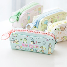 Cute Malong PU Leather School Pencil Case Box Boys Girls Kawaii pen bag Korean tationery Store Pouch Office Supplies Kids Gift
