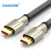 SAMZHE HDMI Cable HDMI to HDMI Braided Zinc Alloy Cable HDMI 2.0 4K 1080P 3D for PS3 Projector HD LCD Apple TV Computer Cables(China)
