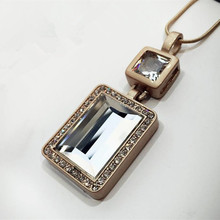 2016 New Arrival Women Pendant Necklaces All-match Temperament Crystal Perfume  Necklace Pendant  Female