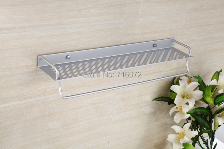 2014Newly Free Shipping Wall Mounted (50cm) Bathroom Towel Holder, Bathroom Shelf, Towel Rack,Bathroom Accessories-Wholesale5950<br><br>Aliexpress