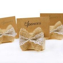 12pcslot rustic wedding place card holder wooden table card holder burlap wedding decoration christmas name card holder