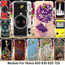 Silicone TPU Hard Plastic Cases for Nokia Lumia 630 Dual SIM RM-978 820 N820 878 830 N830 720 Colorful Candy Beautiful Pattern