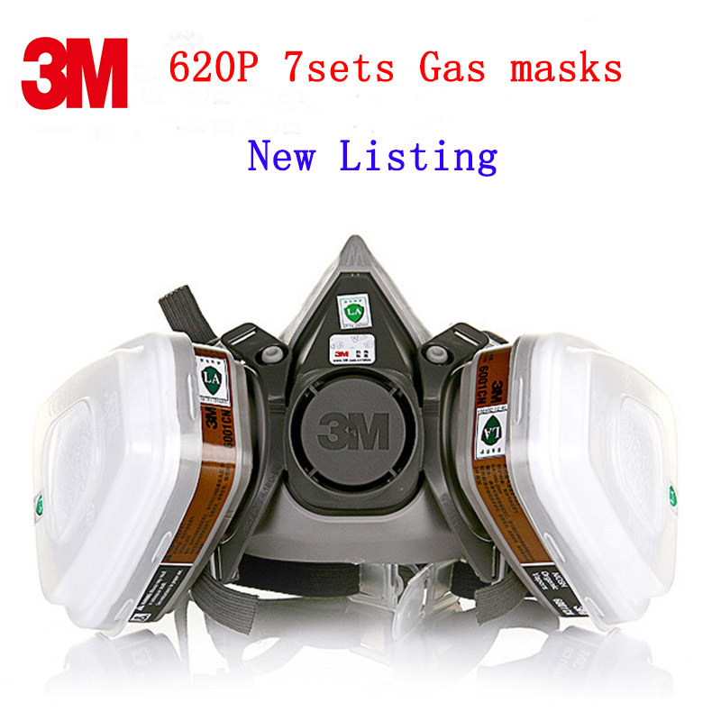 3M 620P respirator gas mask New Listing respirator mask against against painting Car spray protective mask Gift Earplugs<br>